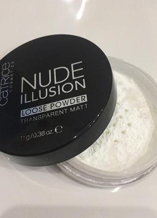 Пудра catrice nude illusion прозрачная