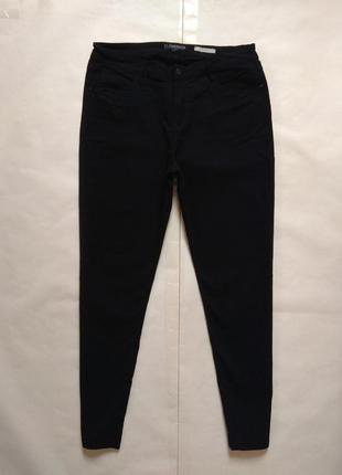 Утягивающие черные штаны брюки скинни с высокой талией florencia, 18 размер.