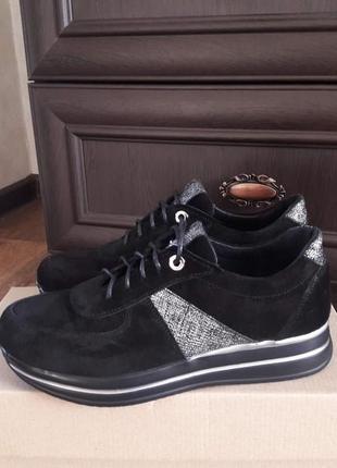 Замшевые кроссовки р.36-41