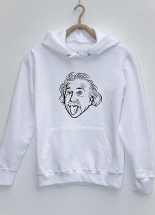 Мужской худи с принтом эйнштейн