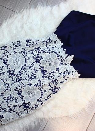 Короткое  нежное платье  кружево