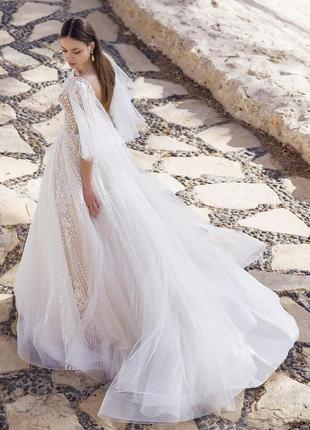 Свадебное платье,а силуэт,айвори,дизайнерское платье oksana mukha,оксана муха