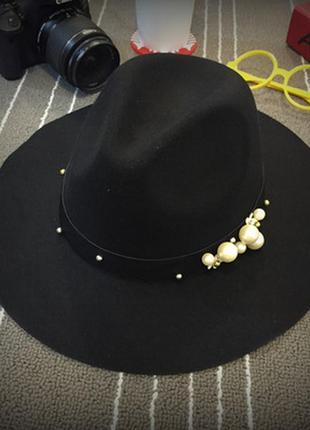 Шляпа с широкими полями 13252н