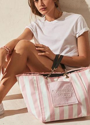 Скмка пляжная сумка шопер виктория сикрет victoria's secret