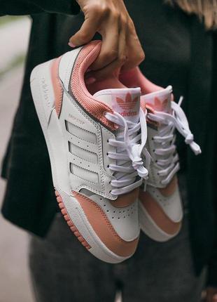"""Женские кроссовки """"adidas drop step white\pink"""""""