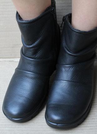 Ботинки ecco  babett boot hydromax 215623 оригінал натуральна кожа