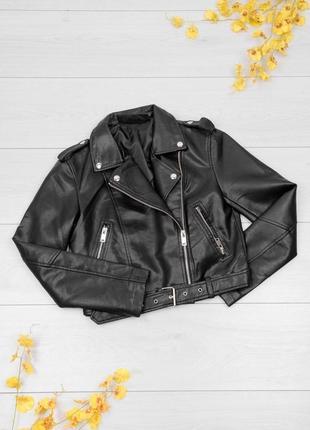 Женская куртка косуха экокожа