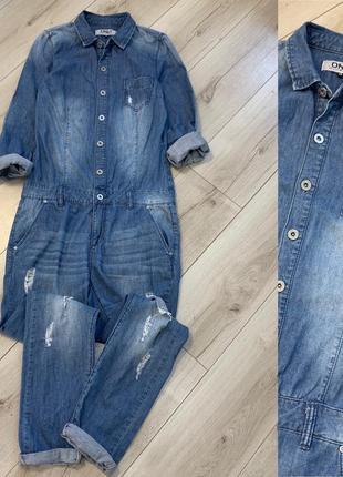 Хлопковый джинсовый комбинезон only