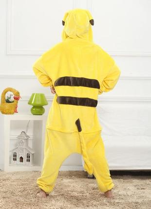Пижама пикачу кигуруми желтый домашний костюм комбинезон