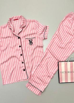 Хлопковая пижама victoria's secret