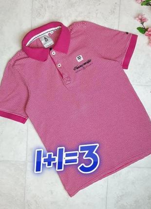1+1=3 женская розовая футболка поло в полоску gaastra, размер 42 - 44