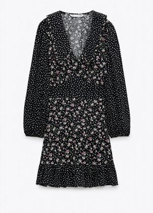 Красивое платье с воротником zara