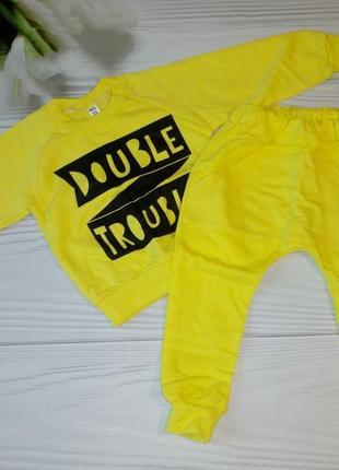 Костюм double trouble желтый 80-86 с начесом