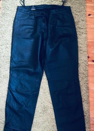Итальянские кожаные брюки кюлоты бриджи