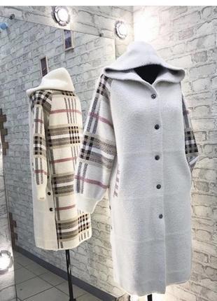 Пальто из наиуральной ткани