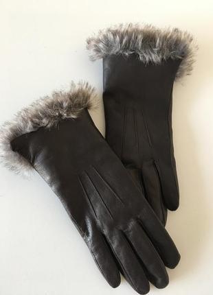 Натуральные кожаные перчатки  7-7.5