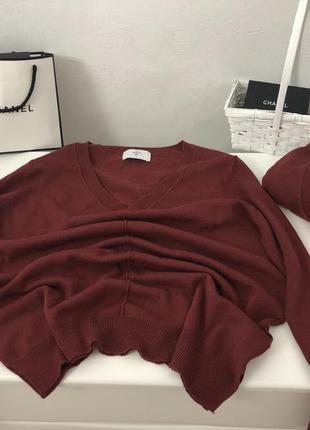 Базовый свитер марсала в стиле zara