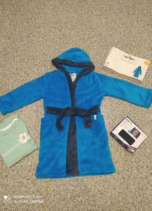 Теплый махровый халат на мальчика махровий халат на хлопчика kuniboo 98 104 на 2-4 года