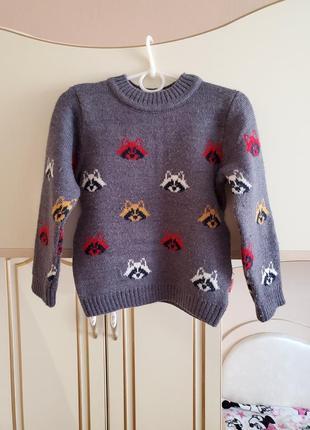 Теплый свитер бемби р.98