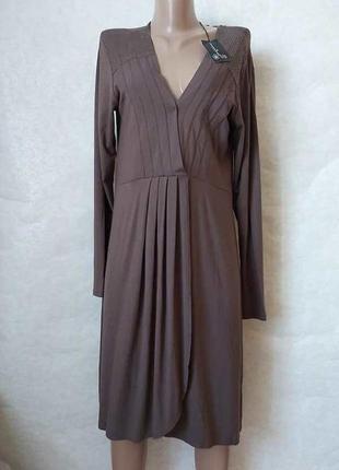 Новое с биркой нарядное платье миди на 90 %вискоза, юбка на запах, размер хл-2хл