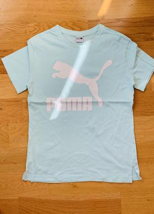 Мятная футболка puma