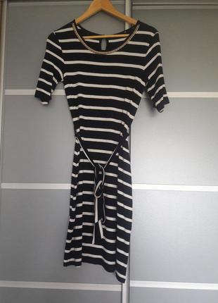 Полосатое миди платье, м