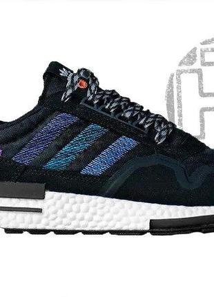 Женские кроссовки adidas zx500 rm commonwealth black purple db3511