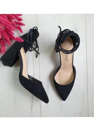 Туфли женские на устойчивом каблуке 1154