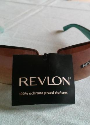 Модные очки прямоугольной форме в металичесской антиоправе, сонцезахисні окуляри revlon