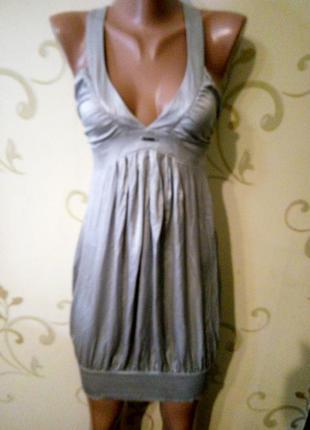 Шелковое брендовое платье. 100% натуральный шелк. размер xs
