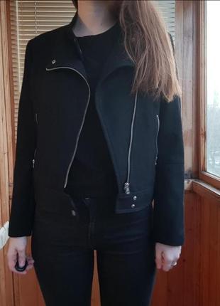 Шерстяная куртка косуха h&m