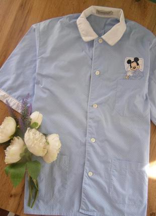 Donaldson the walt disney company  рубашка для сна и отдыха 100% хлопок m-l-размер