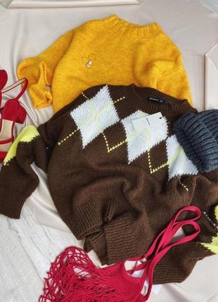 Шоколоадный коричневый мягкий свитер