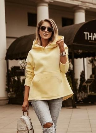 Желтая стильная кофта