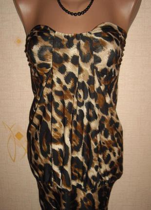 Вечерне платье -чулок. трикотаж элостан леопард s - jennifer taylor