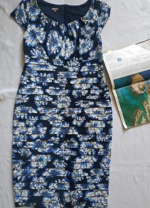 "Тёмно-синее платье с цветами ""m&co"" boutique"