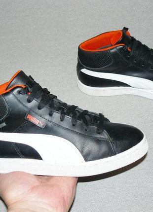 Puma gore-tex кожаные высокие кеды кроссовки оригинал! размер 38 24 см