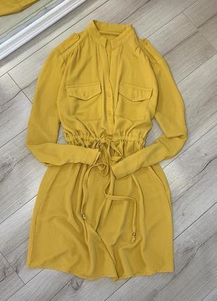 Платье zara с длинным рукавом