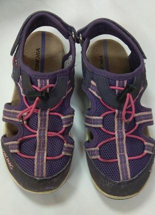Босоножки для девочки спортивные фиолетовые viking 32