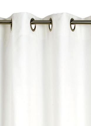 Белые шторы под замш 140*245 на люверсах -кольцах. недорого
