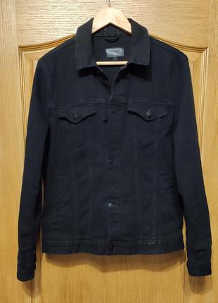 Asos черная джинсовая куртка, пиджак, джинсовка