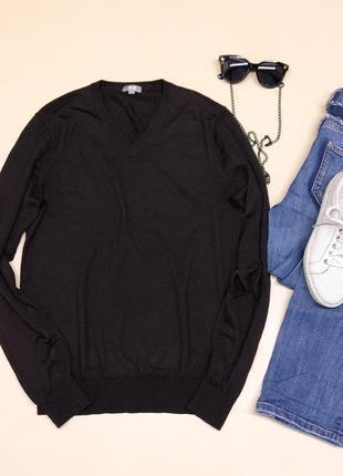 Тонкий шерстяной свитер джемпер