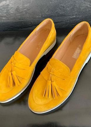 Натуральные кожаные туфли лоферы в стиле zara c 37-41