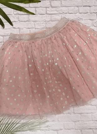 Фатиновая юбочка в звезды ovs на 6-8 лет