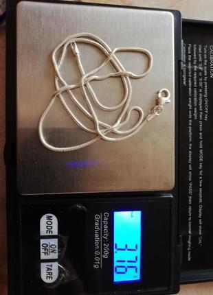 "Серебряная цепочка 49,5 см #серебро 925"" лот 242"