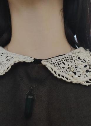 Прозрачная блузка с воротником