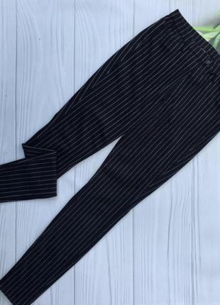 Стильные стрейчевые брюки в полоску