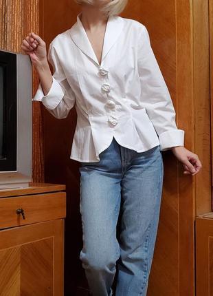 Дизайнерская винтажная блуза жакет anne  fontaine франция винтаж ретро