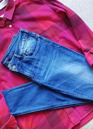 Фірмові джинси skinny завужені maison scotch (scotch&soda) сині класичні