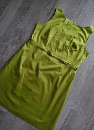 Брендовое оливково-зелёное платье-сарафан/карандаш с пояском😍большой размер
